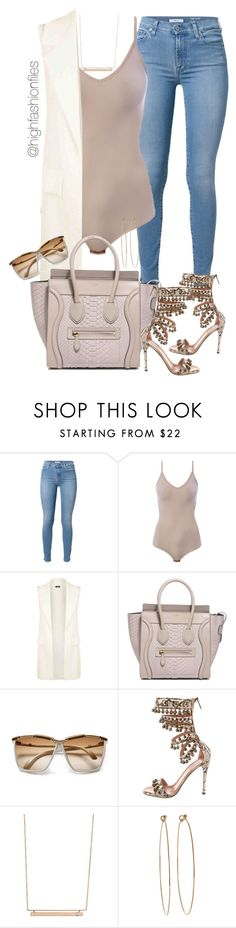 """Statement Shoe!"" by highfashionfiles ❤ liked on Polyvore featuring 7 For All Mankind, Intimissimi, Alaïa, Monique Péan and Dean Harris"