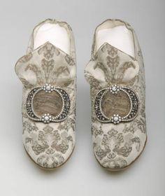 Shoes (image 2) | F. Pinet | France; Paris | 1910 | silk, rhinestones, metallic…