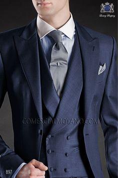 Italian gentleman blue men wedding suit, model: 897 Ottavio Nuccio Gala 2017 Gentleman Collection