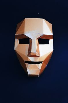 Polygon Face Mask make your own by Wintercroft on Etsy