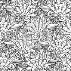 Seamless Monochrome Floral Pattern Vector Stock Photos, Images, & Pictures – (6,981 Images)