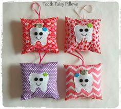 Tooth Fairy Pillow! Tooth monster pillow. Girls tooth pillow. Pillow friend! Pocket for money and tooth. Girls stuffed pillow.
