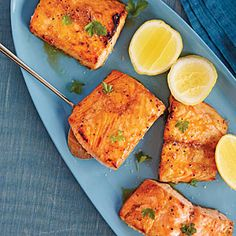 Sorghum-Roasted Salmon Recipe | Cooking Light #myplate# protein
