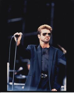 "George Michael George performing at Wembley Stadium for the Nelson Mandela 70th Birthday Tribute on June 11, 1988. His three song set included Stevie Wonder's ""Village Ghetto Land"", Marvin Gaye's ""Sexual Healing"", and his version of Gladys Knight & The Pips' ""If You Were My Woman""!"