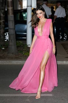 Miranda Kerr stuns in Emanuel Ungaro at the 2015 Cannes Film Festival. See all the best red carpet fashion here  - HarpersBAZAAR.com