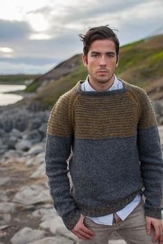 Drangey by westknits. dang, that's awesome. don't knit for my husband, but if i did. by alisha Pulls, Ravelry, Men Sweater, Men Casual, Mens Fashion, Fashion Menswear, My Style, Style Men, Knitting