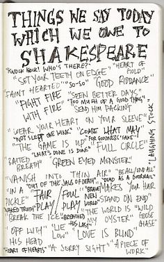 Shakespeare Quotes | I'm fairly convinced the modern English language would be unrecognizable without Shaskespeare