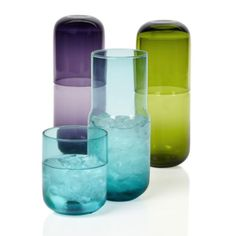 zgallerie.com Pill Carafes in Robin Blue. These are a really cool touch of retro to add to your bar or kitchen.