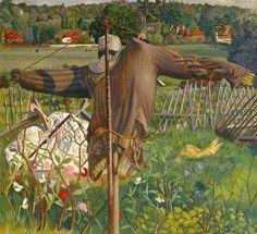 "Stanley Spencer, ""Scarecrow, Cookham"" (1934)"