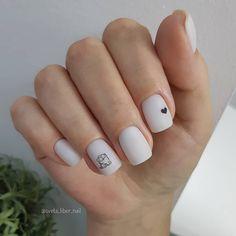 Cute Acrylic Nails, Acrylic Nail Designs, Nail Paint Shades, Clear Glitter Nails, Subtle Nails, Gothic Nails, Cat Nails, Minimalist Nails, Dream Nails