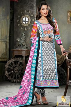 Bold and beautiful white and black color cotton printed salwar suit online shopping at cheapest price in India. Purchase this chiffon casual salwar kameez with discount offer. #salwarkameez, #cottonsalwarkameez, #casualsalwarlameez, #printedsalwarkameez,#churidarsalwarkameez, #discountoffer, #pavitraafashion, #utsavfashion, #embroiderysalwarsuit, #georgettesalwarsuit, #silksalwarkameez, #straightsalwarsuit http://www.pavitraa.in/store/casual-dress/ callus:+91-7698234040