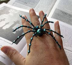 Beaded Spider Ring
