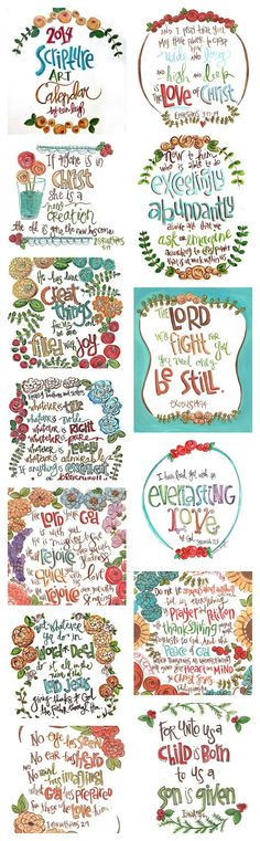 2014 8.5 x 11 Scripture Art Calendar, 2014 Bible Verse Calendar, With an 11 x 14 Distressed Wooden Calendar Hanger