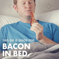 """Dad, here's an animated GIF """"voucher"""" for bacon. In bed. Father's Day doesn't get any better."""