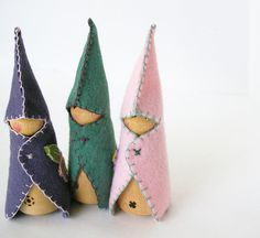 gnome peg dolls with felt capes great addition to fairy making day!!