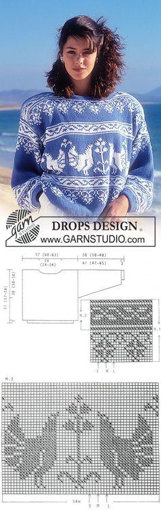 "DROPS jumper with pattern borders in ""Muskat"". ~ DROPS Design | вязание(жаккард,вышивка) | Постила"