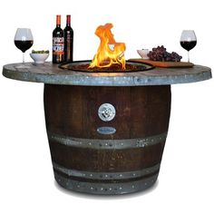 Estate Wood Fire Pit Table