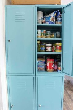 I could always paint our lockers and use them as a pantry if necessary. The kids don't really use them anyways.
