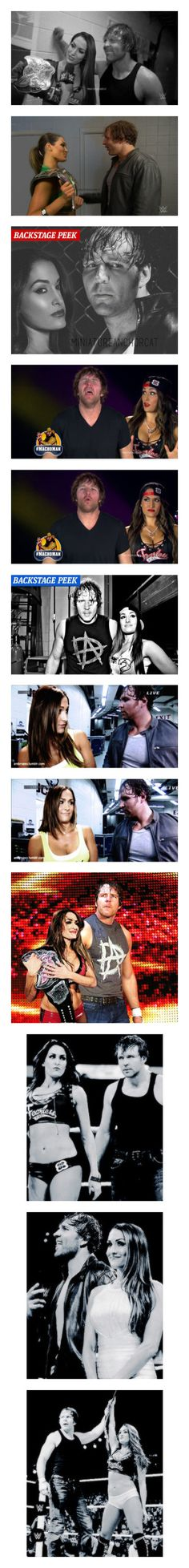 """""""Ships ~ NikkiRose ( Nikki Bella and Dean Ambrose manips/edits )"""" by swaggwweforever ❤ liked on Polyvore"""