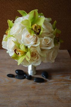 Orchids and roses posy