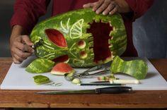 How to Carve a Watermelon into a Tiki Mask -- via wikiHow.com