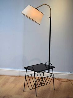 great little combo lamp side table more stuff combos lamps projects. Black Bedroom Furniture Sets. Home Design Ideas