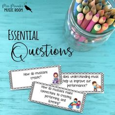 Essential Questions for the Music Classroom | Printable Lesson Pack - https://bluebirdmusiclessons.wordpress.com/2016/10/26/essential-questions-for-the-music-classroom/