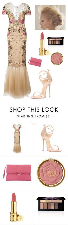 """""""Floral Gowns"""" by kotnourka ❤ liked on Polyvore featuring Notte by Marchesa, Giuseppe Zanotti, Mint Velvet, Milani, Elizabeth Arden and Smashbox"""