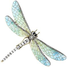 Pre-owned Antique Plique-a-Jour Dragonfly Pin ($35,000) ❤ liked on Polyvore featuring jewelry, brooches, accessories, dragonflies, antique jewelry, green jewelry, blue jewelry, antique broach and blue green jewelry