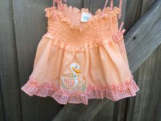 Smocked Ducky Top 12/18 Months by lishyloo on Etsy