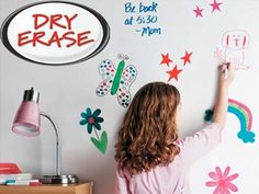 Dry erase paint. Now you can draw on your walls without your mom bitching you out.