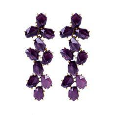 Oscar de la Renta Waterfall Stone Earring ($345) ❤ liked on Polyvore