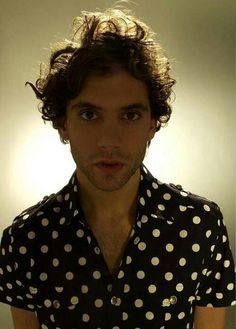 Mika polka dot promo pic David Ellis photoshoot