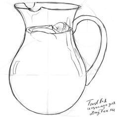 Как нарисовать кувшин карандашом поэтапно 5