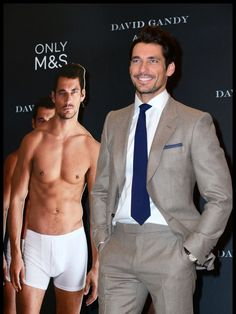 David Gandy Poses With Shirtless David Gandys For His Marks & Spencer Underwear Line