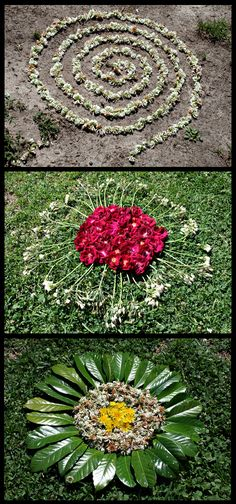 Andy Goldsworthy inspired lesson After Andy Goldsworthy Triptych – iPad Art Room Natural findings arranged to make art.