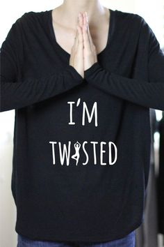 I'm Twisted - Yoga Long Sleeve by ArimaDesigns.etsy.com
