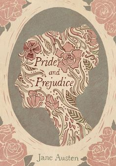 """A book cover design for """"Pride and Prejudice"""" by Jane Austen (© Magdalena Szymaniec) Drawing, Illustration, Typography"""