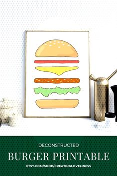 #deconstructed #hamburger #printable #kitchen #burger #click #print #yours #spice #your #with #this #fun #art #get Deconstruct... Hamburger Spices, Deconstruction, Fun Art, Printables, Kitchen, Cooking, Print Templates, Kitchens, Cuisine