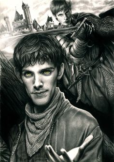 Two Sides of the Same Coin by *Imaliea on deviantART (Merlin Emrys / Arthur Pendragon, Merthur, Colin Morgan, Bradley James, Merlin Fanart)