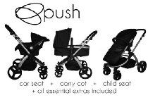 PUSH OXFORD 3 IN 1 BABY TRAVEL SYSTEM Pram/Pushchair/Stroller/Car Seat Black Maclaren Pushchair, Travel Systems For Baby, Prams And Pushchairs, Baby Travel, Baby Prams, Kids Seating, Mamas And Papas, Traveling With Baby