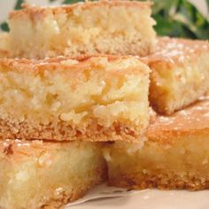 GOOEY BUTTER BARS @keyingredient #cake #cheese