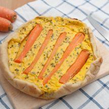 Ma recette du jour : Quiche sans pâte carotte et cumin sur Recettes.net