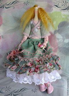 Купить Тильда, Romantic Collection, Greengrass. Бохо. - мятный, тильда, тильда кукла, бохо