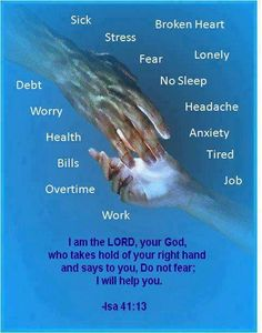 ♡♰ For I hold you by your right hand—I, the Lord your God. And I say to you, 'Don't be afraid. I am here to help you. {ISAIAH 41:13 NLT}