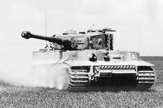 "Panzerkampfwagen VI Tiger (8.8 cm L56) Ausf. E (Sd.Kfz. 181) Nr. 321 Tiger of s.SS - Panzer-Abteilung 101 of 1 production environment. SS-Panzer-Division ""Leibstandarte SS Adolf Hitler"" (LSSAH). Photograph taken in 1944 near Morgny (France)"
