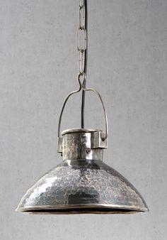 Ashton Hanging Lamp in Antique Silver