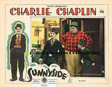 CHARLIE CHAPLIN - SUNNYSIDE - VINTAGE SILENT FILM LOBBY CARD