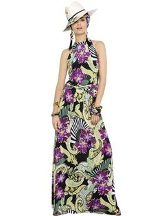 ETRO - FLORAL PRINTED VISCOSE JERSEY DRESS