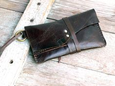 Tobacco Pouch Leather simple pouch case Hand by FeralEmpire, $48.00